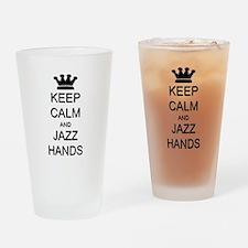 Keep Calm Jazz Hands Drinking Glass
