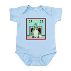 Christmas Begging Bulldog Infant Bodysuit