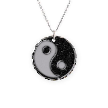 Yin & Yang Necklace Circle Charm
