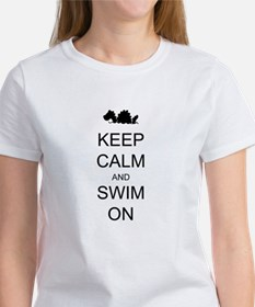 Keep Calm and Swim On Sea Monster Women's T-Shirt