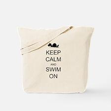 Keep Calm and Swim On Sea Monster Tote Bag
