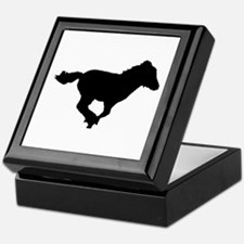 running foal silhouette Keepsake Box