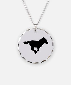 running foal silhouette Necklace