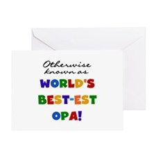 Otherwise Known Best Opa Greeting Card