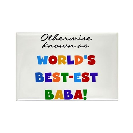 Otherwise Known Best Baba Rectangle Magnet (10 pac