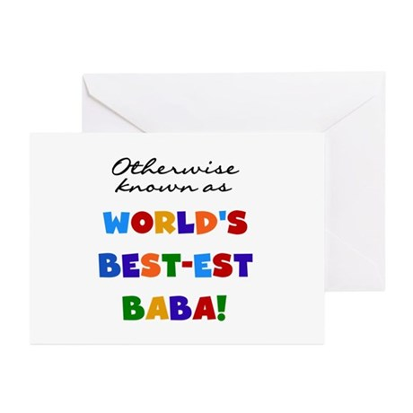Otherwise Known Best Baba Greeting Cards (Pk of 20