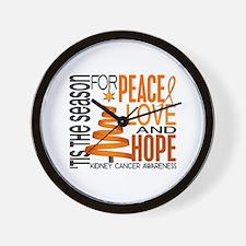 Christmas 1 Kidney Cancer Wall Clock