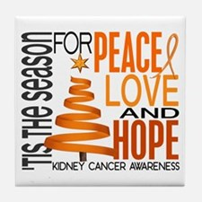 Christmas 1 Kidney Cancer Tile Coaster