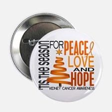"Christmas 1 Kidney Cancer 2.25"" Button (10 pack)"