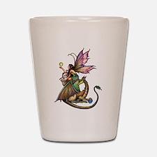 Dragon's Orbs Fairy and Dragon Art Shot Glass