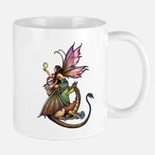 Dragon's Orbs Fairy and Dragon Art Mug
