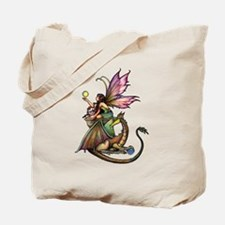 Dragon's Orbs Fairy and Dragon Art Tote Bag
