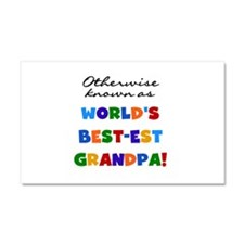 Otherwise Known Best Grandpa Car Magnet 20 x 12