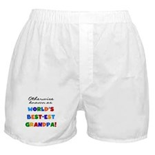 Otherwise Known Best Grandpa Boxer Shorts