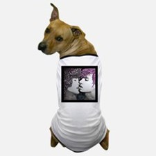 Midnight Kiss - black frame Dog T-Shirt
