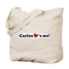 Carlos loves me Tote Bag