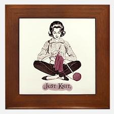 Knitters Just Knit Framed Tile