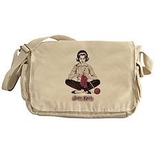 Knitters Just Knit Messenger Bag