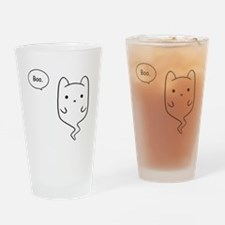 Boo the Ghost Cat Drinking Glass