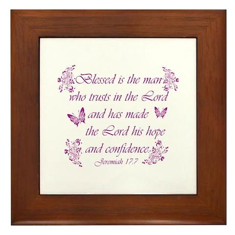 Inspirational Christian quotes Framed Tile
