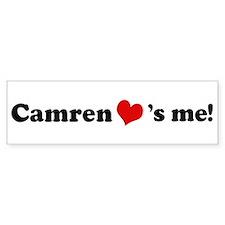 Camren loves me Bumper Bumper Sticker
