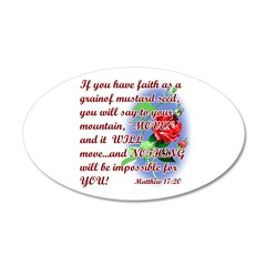 Inspirational Bible Quotes 38.5 x 24.5 Oval Wall P