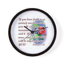Inspirational Bible Quotes Wall Clock