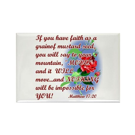 Inspirational Bible Quotes Rectangle Magnet (10 pa