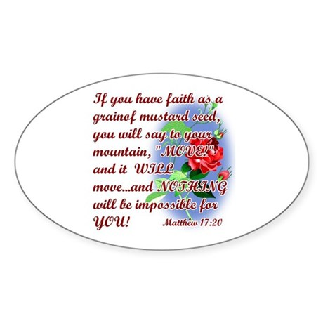 Inspirational Bible Quotes Sticker (Oval)