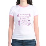 Inspirational Christian quotes Jr. Ringer T-Shirt
