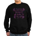 Inspirational Christian quotes Sweatshirt (dark)