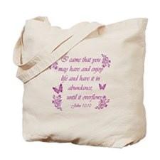 Inspirational Christian quotes Tote Bag