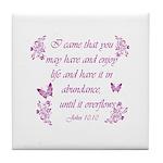 Inspirational Christian quotes Tile Coaster