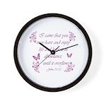 Inspirational Christian quotes Wall Clock