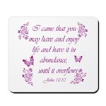 Inspirational Christian quotes Mousepad