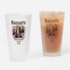 basset footprints Drinking Glass