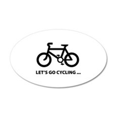 Let's go cycling ... 38.5 x 24.5 Oval Wall Peel
