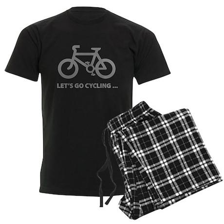 Let's go cycling ... Men's Dark Pajamas