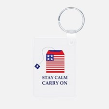 Stay Calm Carry On Tea Party Keychains
