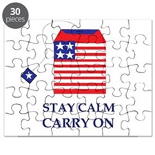 Stay Calm Carry On Tea Party Puzzle