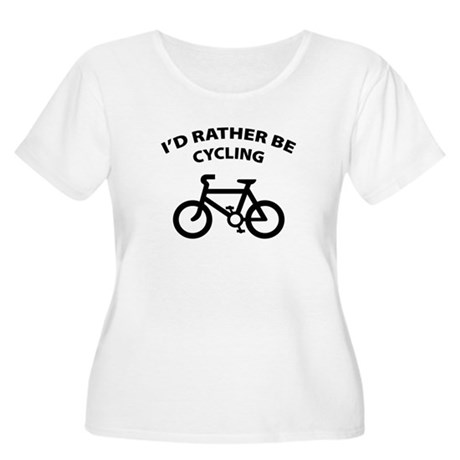 I'd rather be cycling Women's Plus Size Scoop Neck