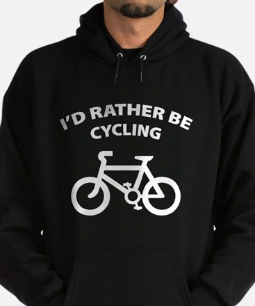 I'd rather be cycling Hoodie (dark)