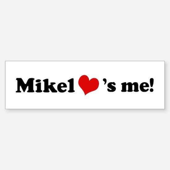Mikel loves me Bumper Car Car Sticker