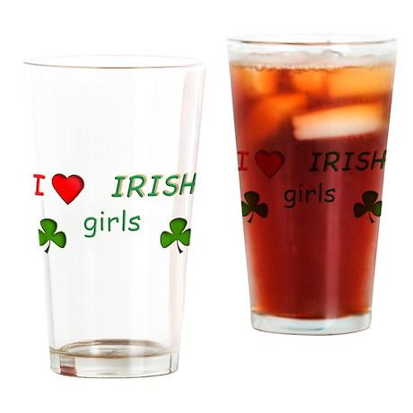 Love Irish Girls Drinking Glass