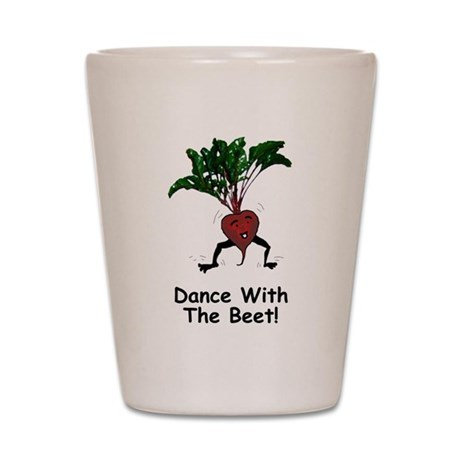 Dance With The Beet Shot Glass