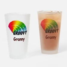Groovy Granny Drinking Glass
