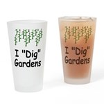"I ""Dig"" Gardens Drinking Glass"