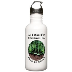 Xmas Peas on Earth Water Bottle