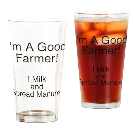 A Good Farmer Drinking Glass