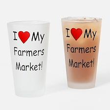 Heart Farmers Market Drinking Glass
